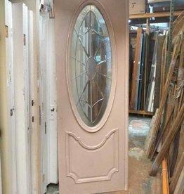 Oval Leaded Glass Door 33 x 93