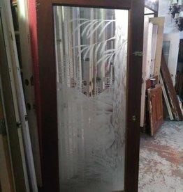 Etched Glass Door  35 1/2 x 82 1/2