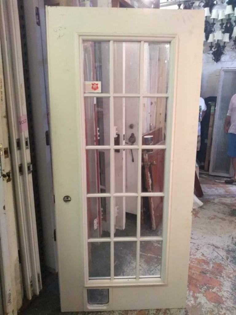 15 Panel Glass Panel Door 79 x 36