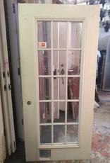 """15 Panel Glass Panel Door 79"""" x 36"""""""