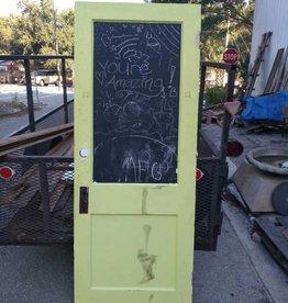 2 Panel Door W/ Chalk Paint  30 x 79
