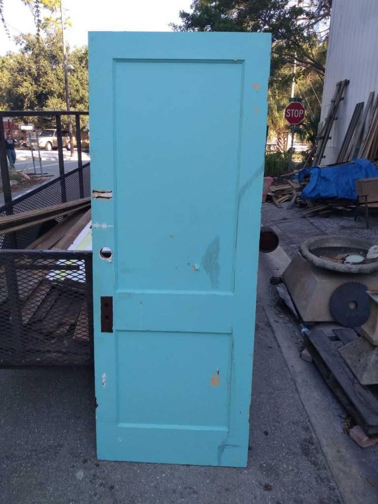 2 Panel Door Blue  30 x 79 1/4