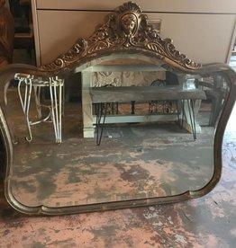 Gold Framed Lady Head Mirror