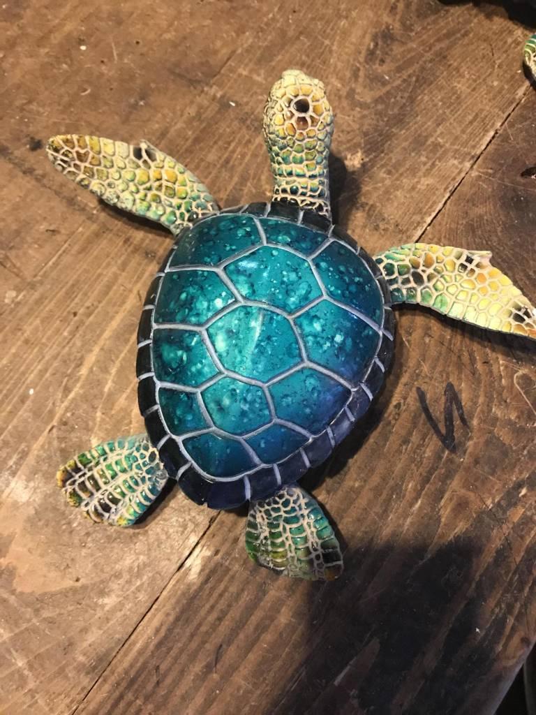 Blue Turtle Statue