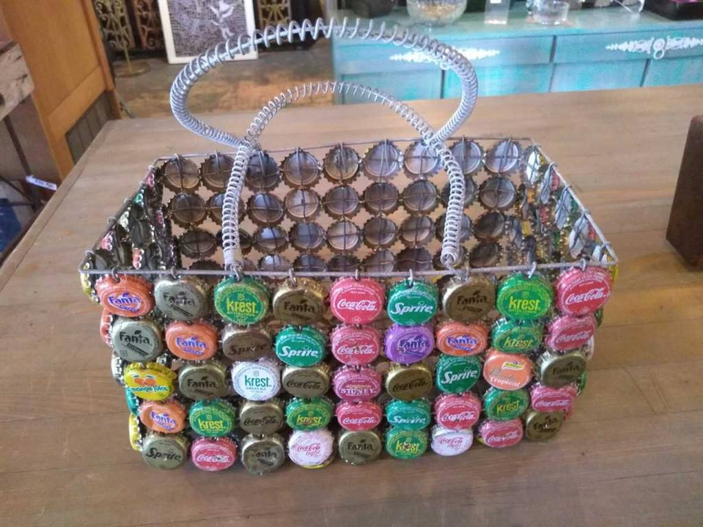 Bottle Cap Basket