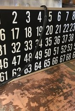 Bingo Board w/ Numbers