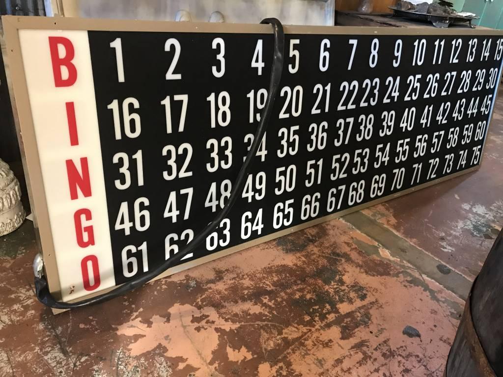 Bingo Board w/ Numbers