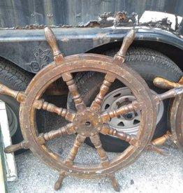 Vintage Wooden Ships Wheel