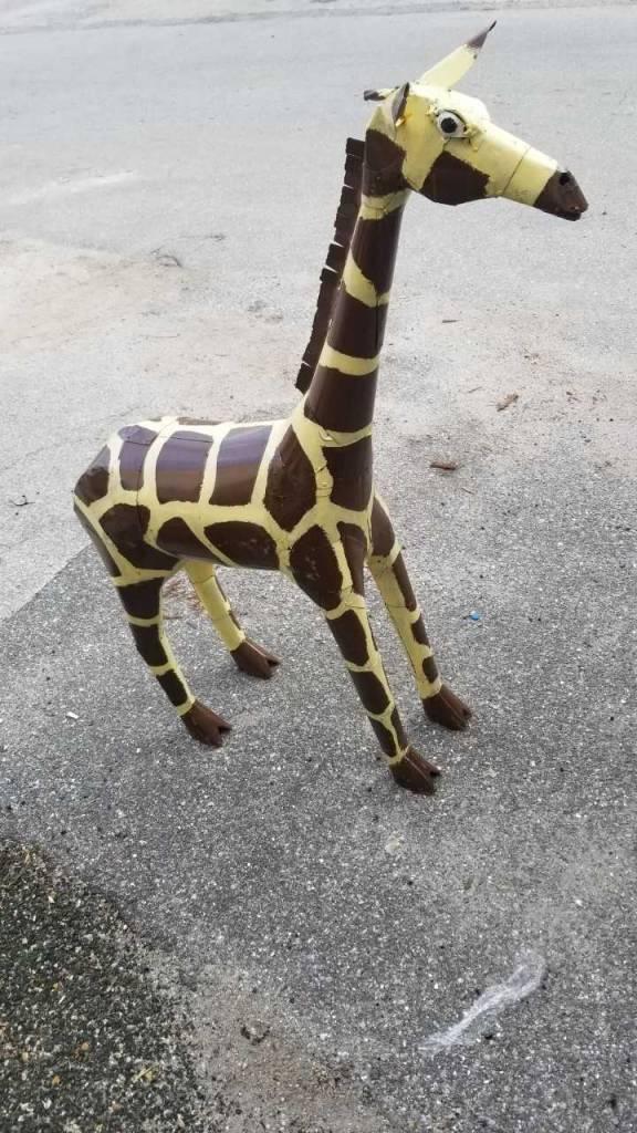 5' Tin Giraffe