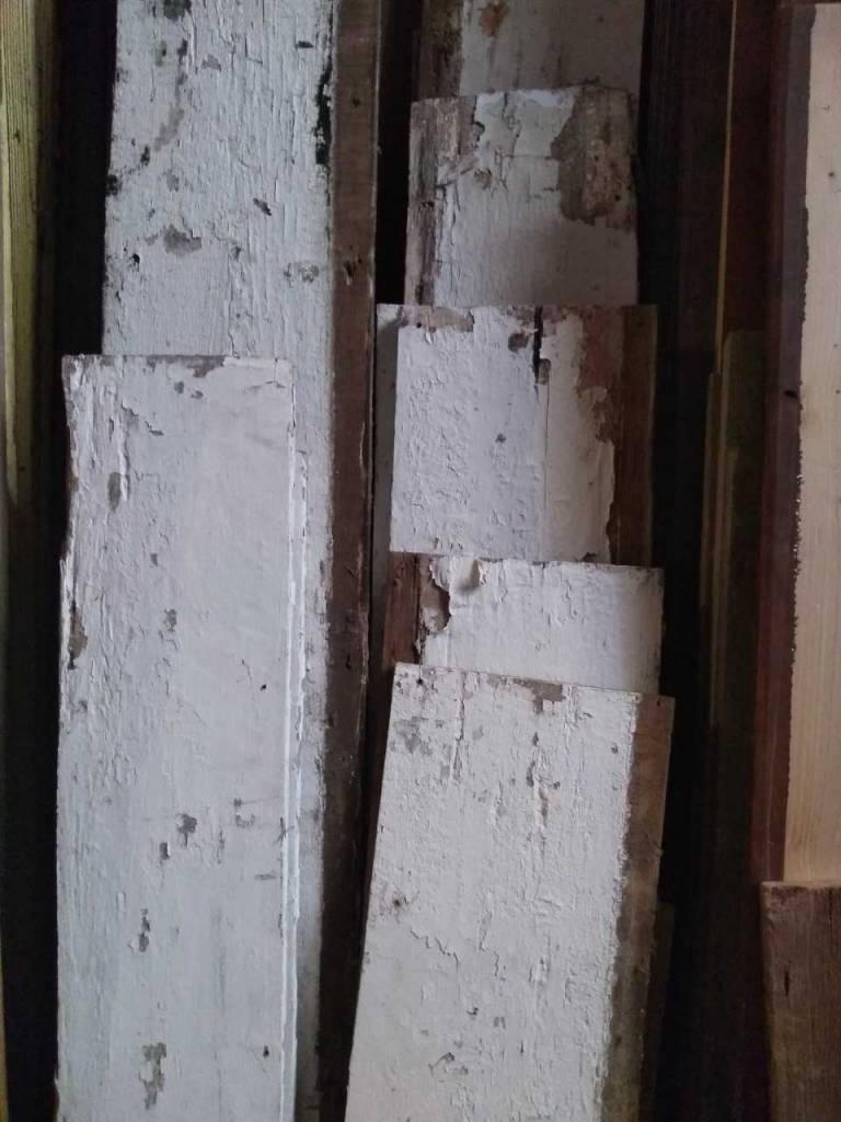 White Pecky Cypress Sarasota Architectural Salvage 1093