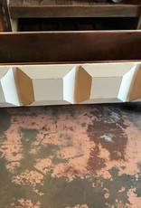 White Wooden Copper Lined Planter