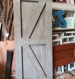 "Gray Cypress Barn Door  34.5"" x 83"""