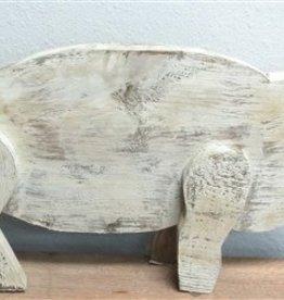 Wood Pig  9''H x 15''L x 2 1/2''W