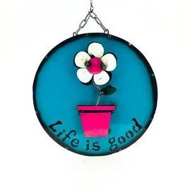 """Flower Pot Screen 15""""D"""