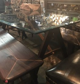 Teak and Iron Wood Table