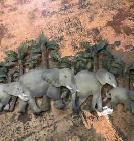 Metal Elephants Wall Decor