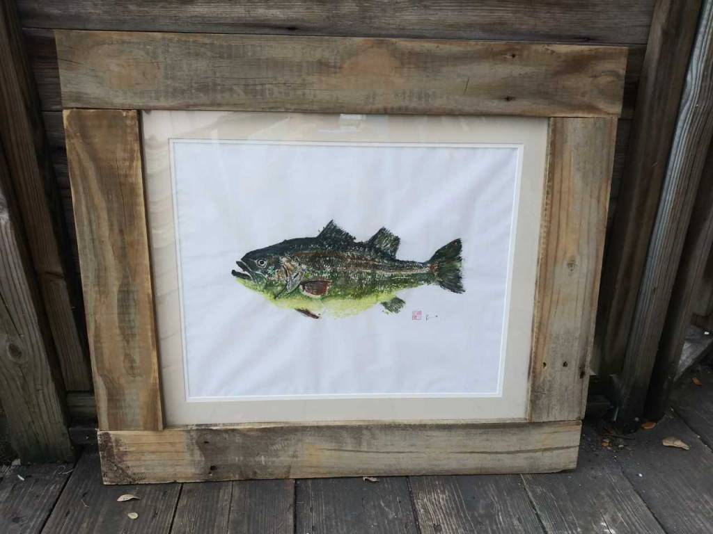 Bass Gyotaku Original