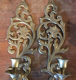 Wall Brass Candle Holder