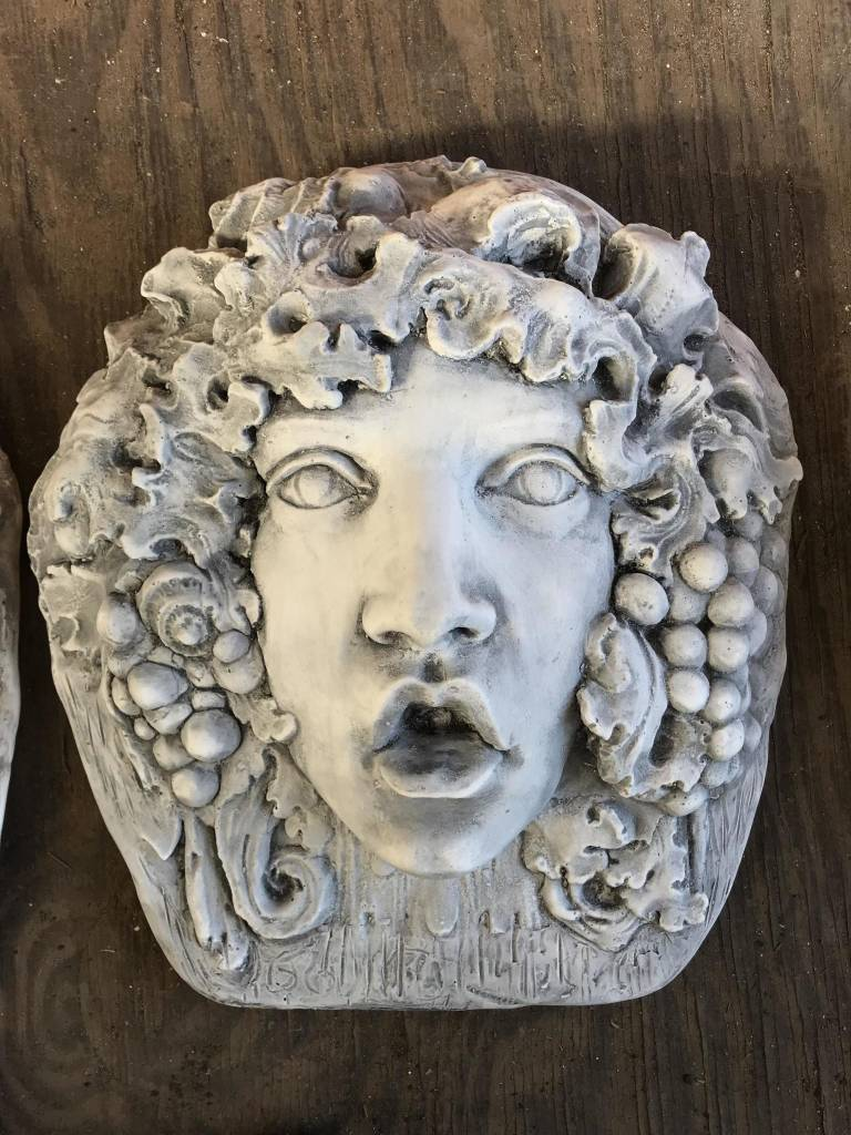 Bacchus Face Plaque