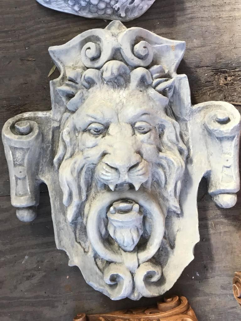Large Lion Door Knocker Plaque