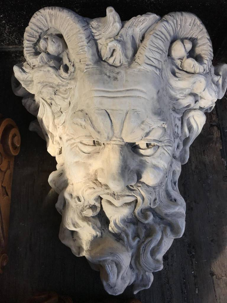 Bearded Man w/ Horns Plaque