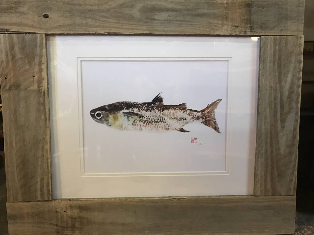 Reclaimed Wood Frame Mullet Reproduction Print