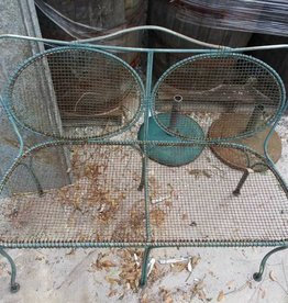 Green Wire Bench