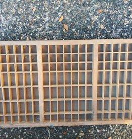 VIntage Print Block tray
