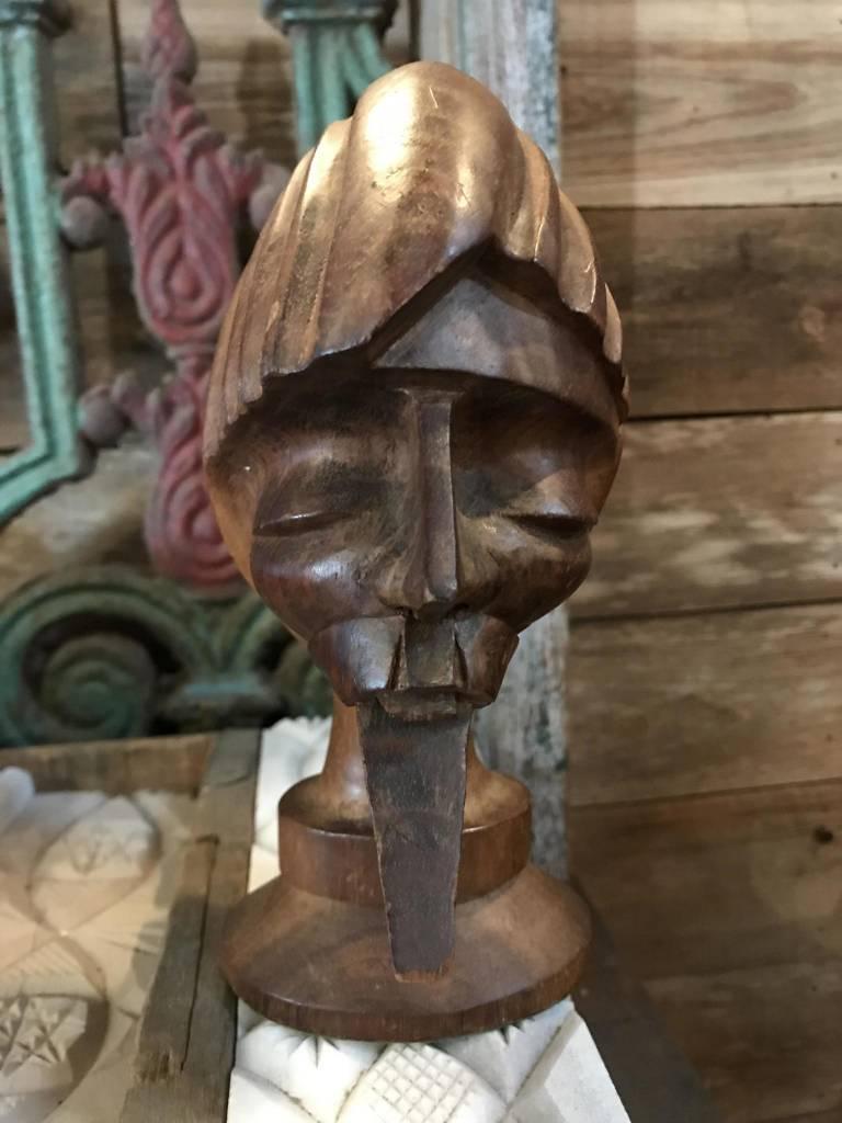 Bearded Wooden Head