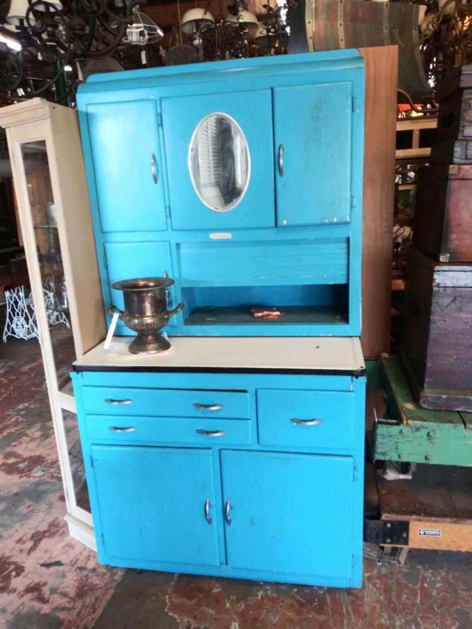 Blue Hoosier Cabinet