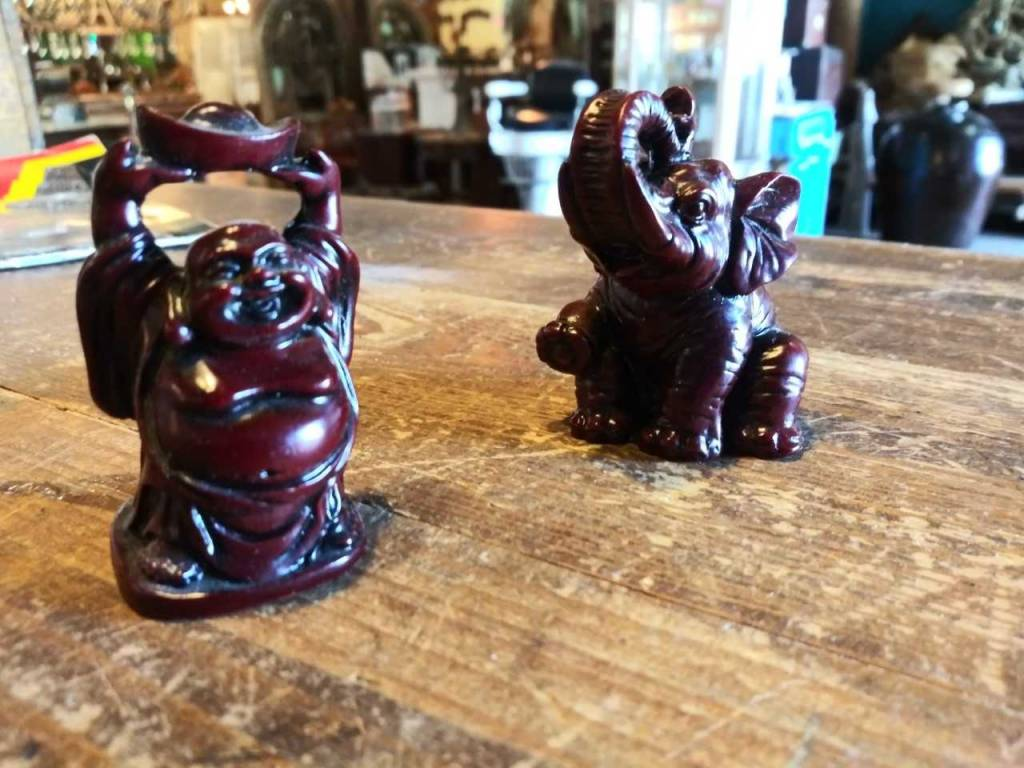 Red Resin Elephant