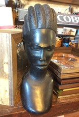 Carved African bust