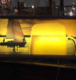 Vintage light up miller sign