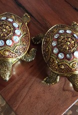 Gold bedazzled turtle