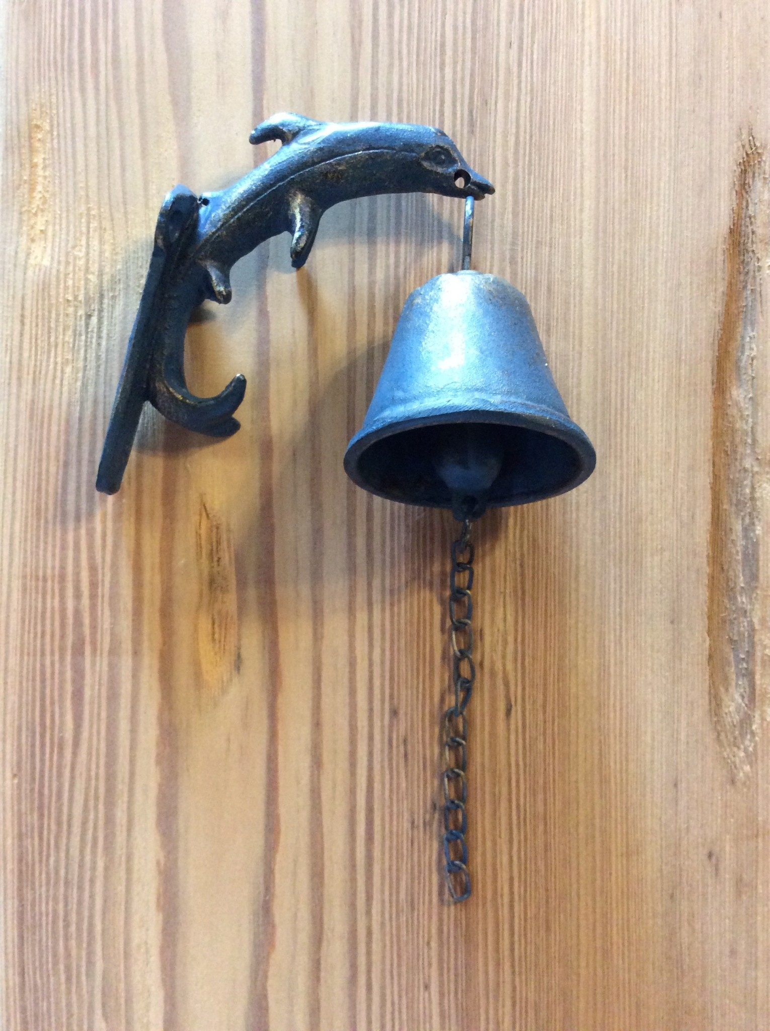Dolphin wall bell