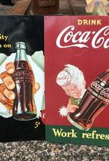 Tin coke sign