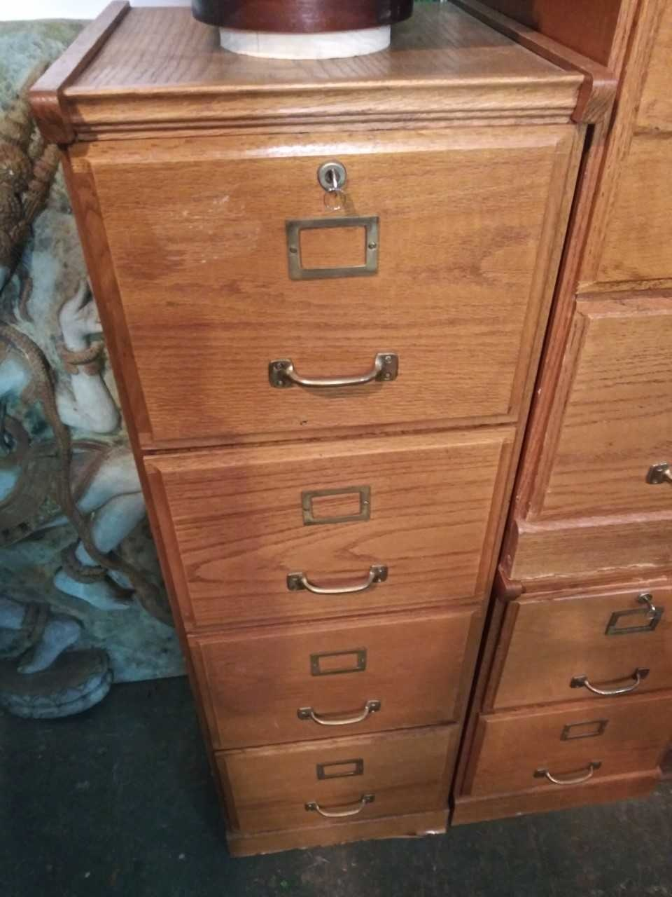 Large Wood File Cabinet