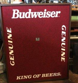 Budweiser Dart Board back