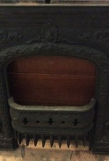 Cast iron stove front