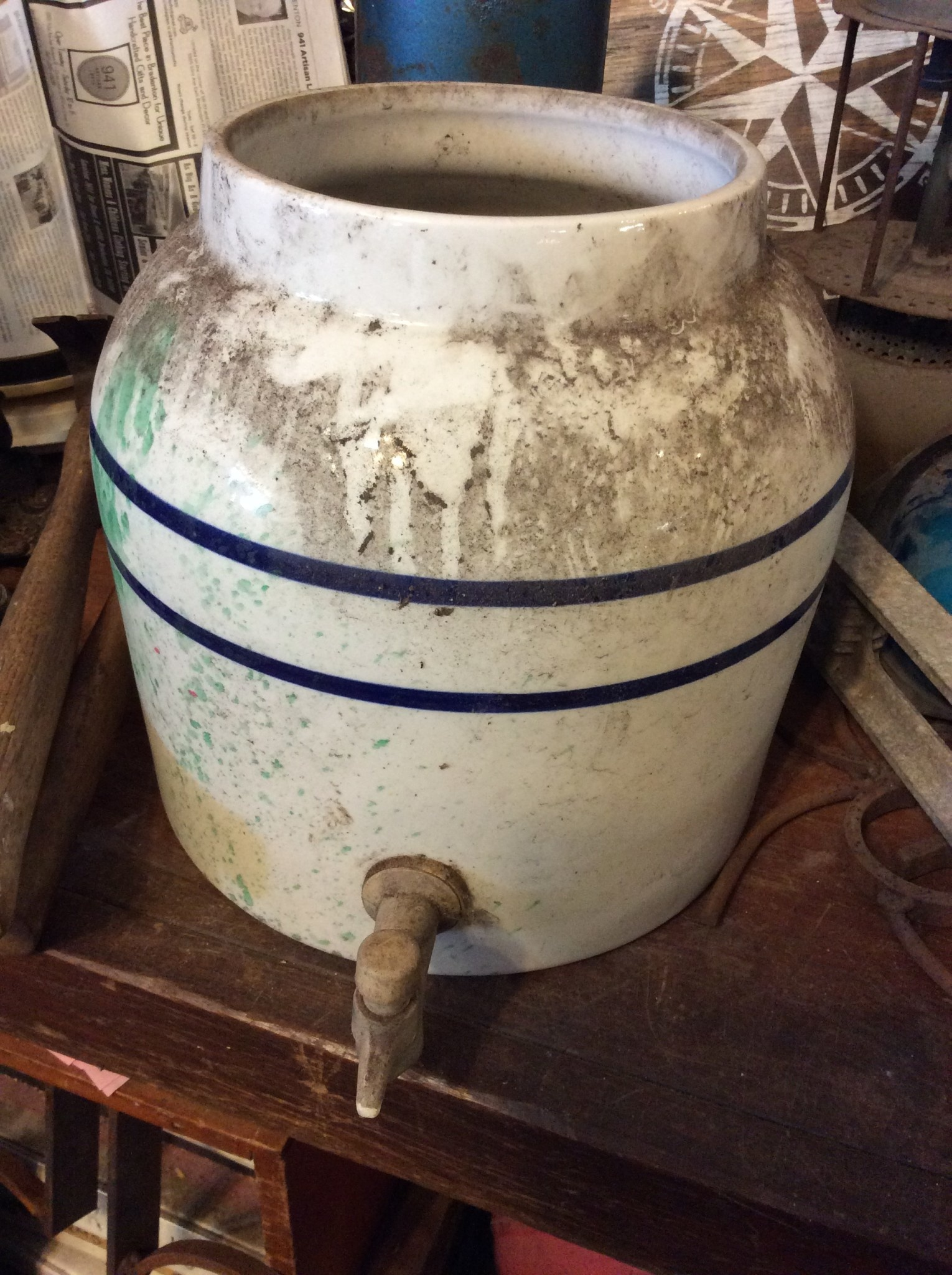 Large ceramic water jug