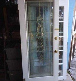 """Leaded Glass Door 31 3/4"""" x 79"""""""