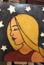 Cast stone starry girl