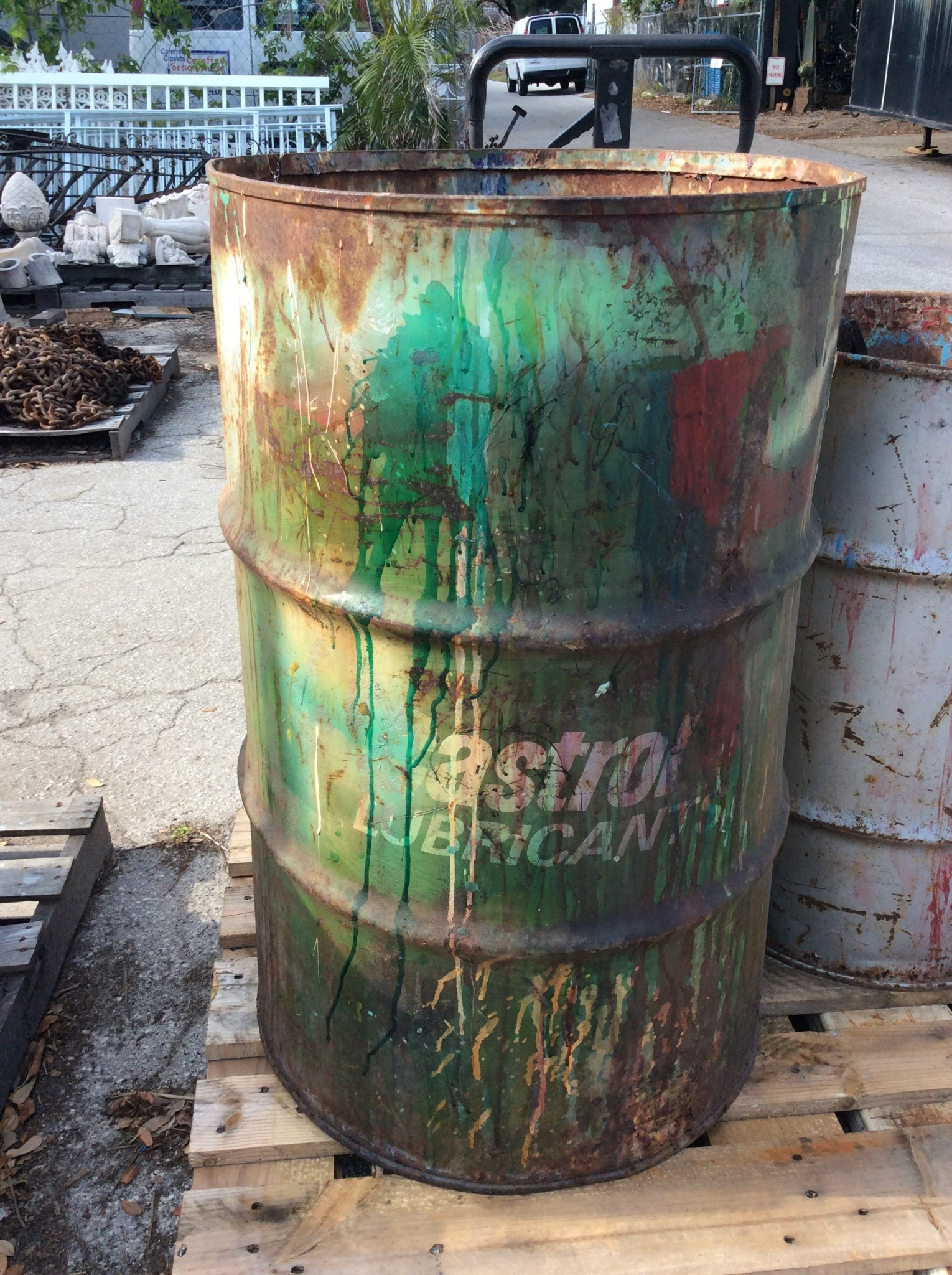 Large metal can