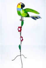 """Short Tail Macaw on Stand 58"""" H x 22"""" L"""