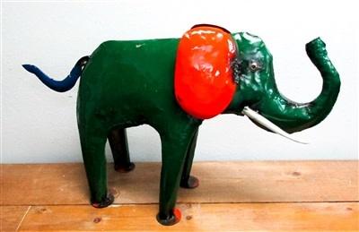 Tin Elephant 20''H x 32''L x 9''W