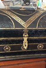 Black and gold cigar box