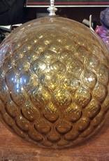 Amber glass globe
