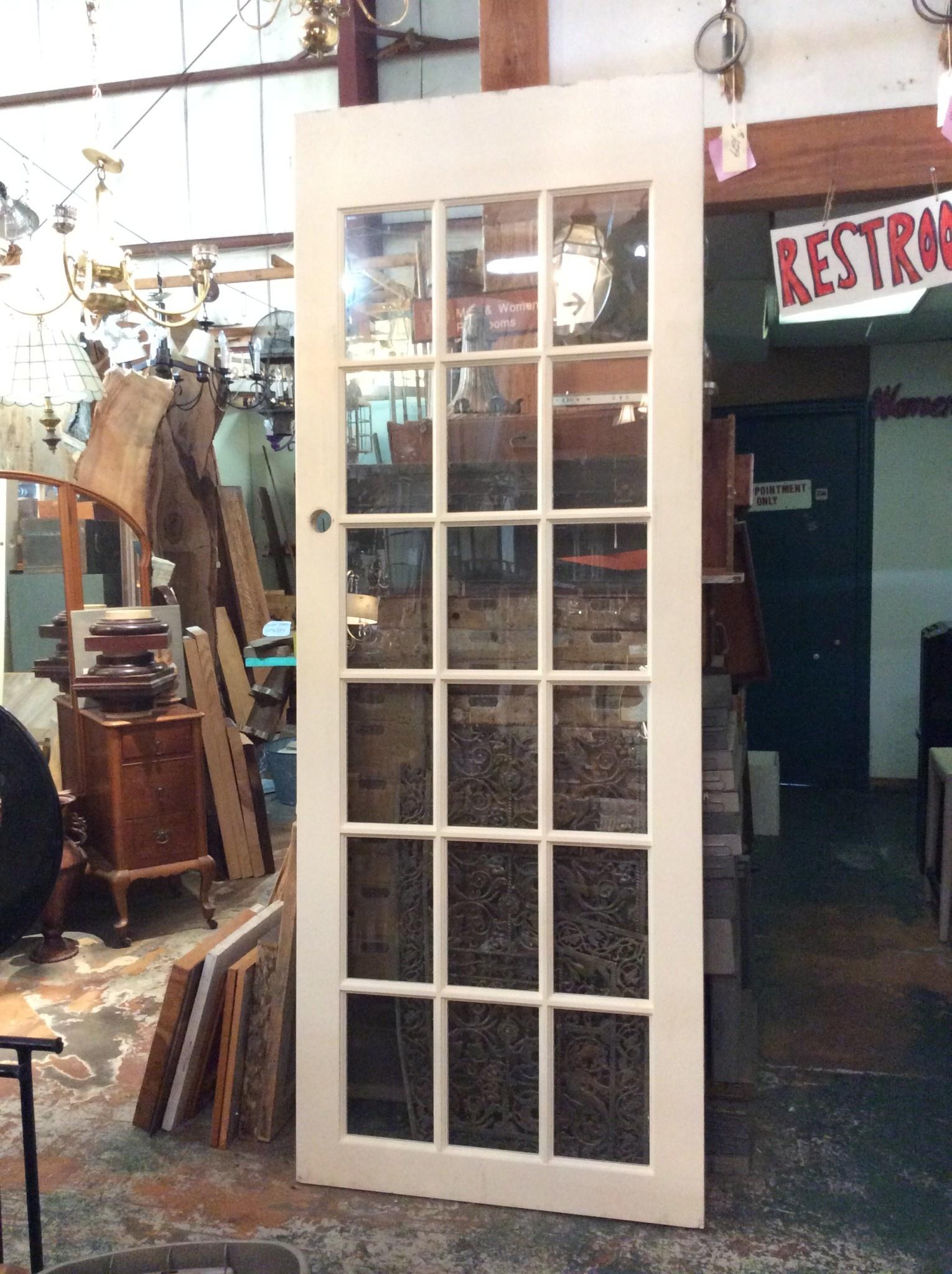 18 panel glass door 96 x 36