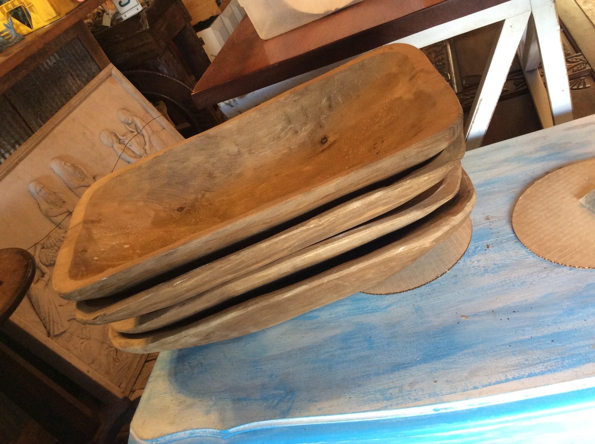 Brown carved wood bowl