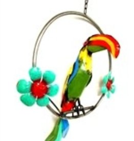 """Toucan on Ring 18"""" H x 18"""" L"""